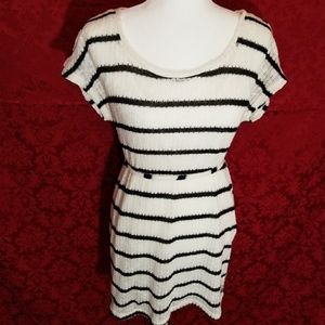 Striped stretchy maturity top